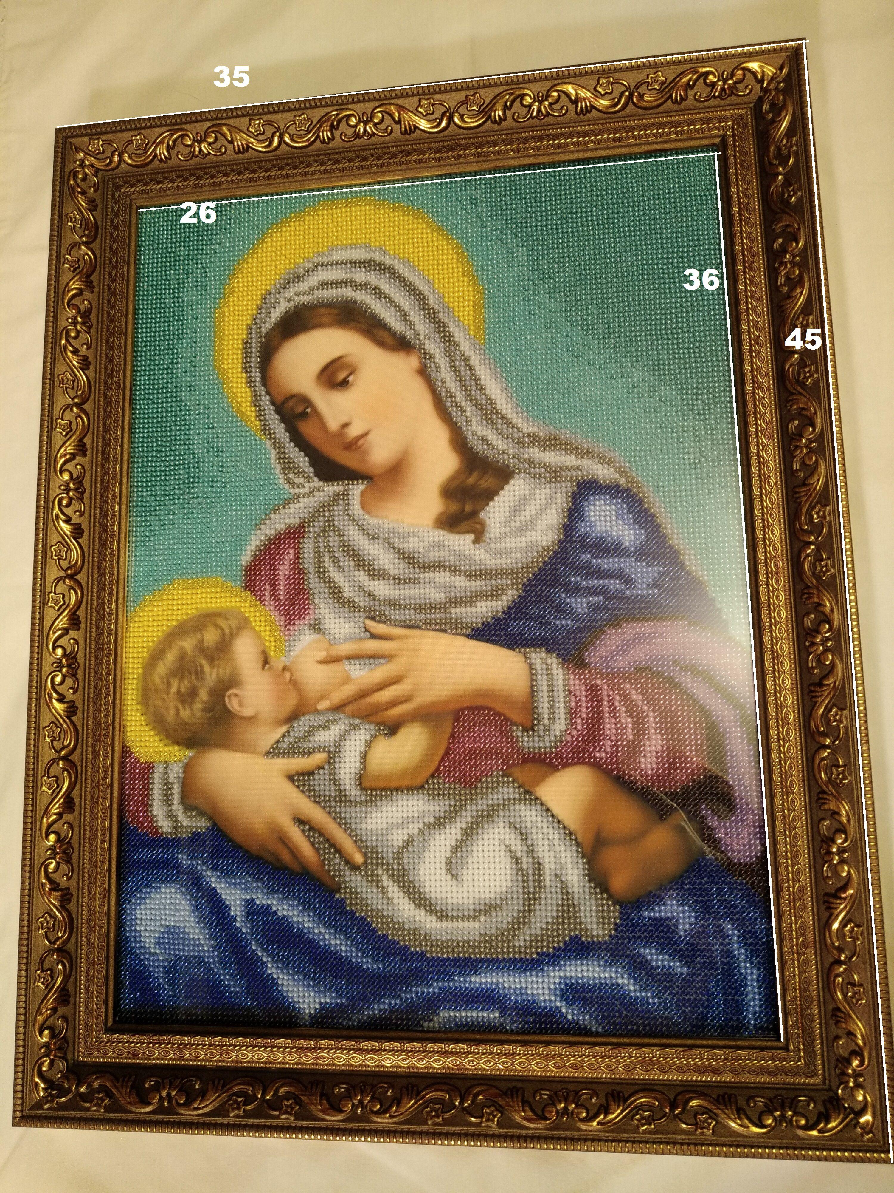 бисер бисером ручная вышивка икона рукоделие иконы подарок богородица