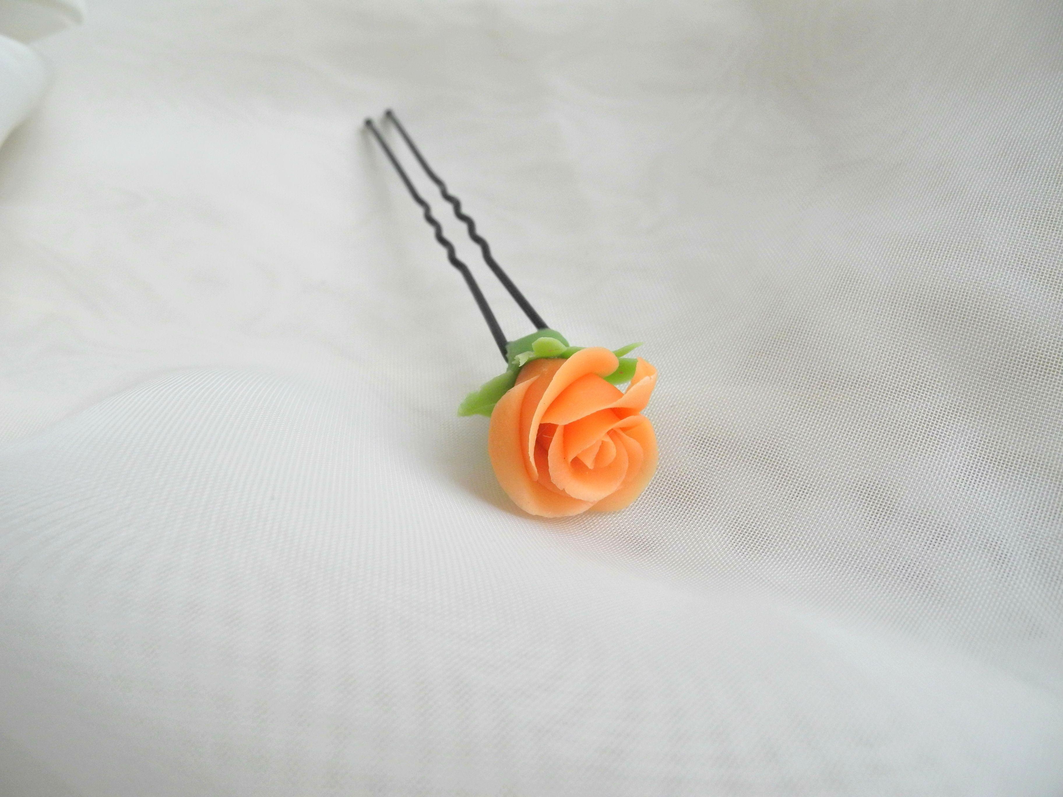 белоусоваанна холодныйфарфор подаркиручнойработы керамическаяфлористика proglina украшение шпилька handmade заколка своимируками цветы роза