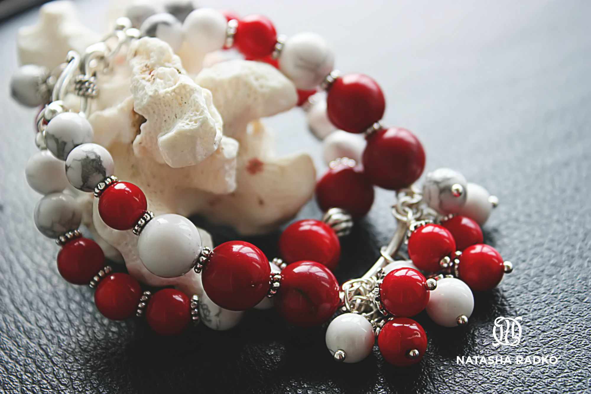 браслеты коралл лето красота камни украшения живемярко натуральные