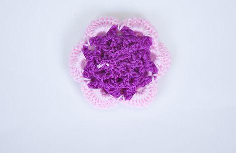 Цветы крючком мастер класс 24