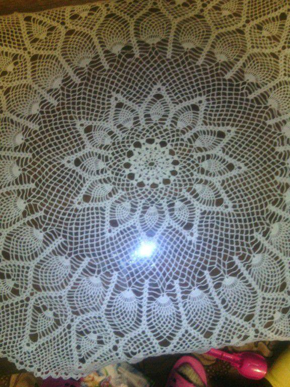 салфетка вязание кружево крючком белая