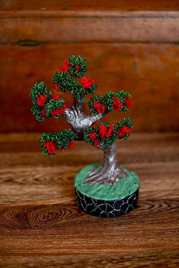 ручнаяработа бисер бисероплетение handmade дерево цветы