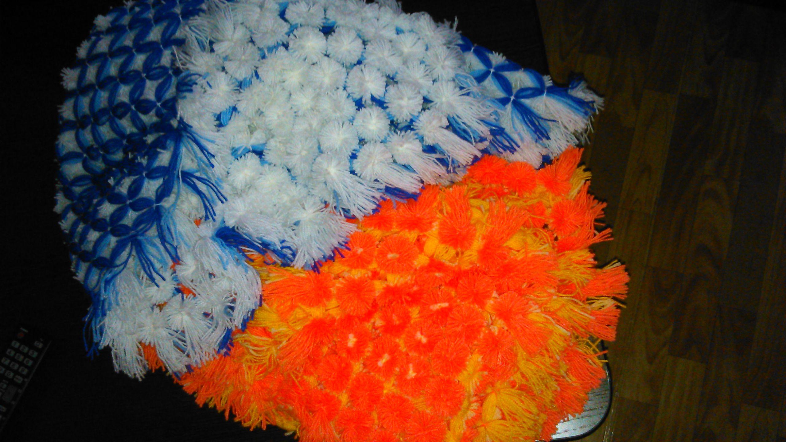 помпоны плед палантин покрывало хендмейд конверт шарф пряжа