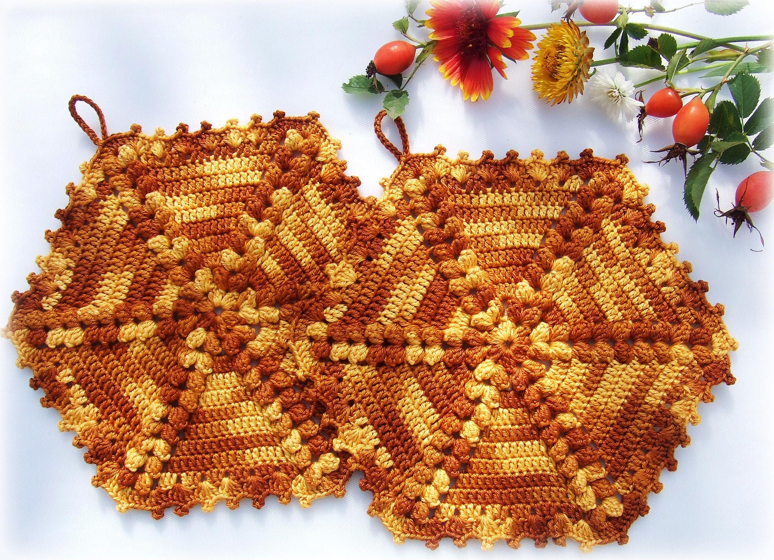 кухонный вязание коричневый кухня прихватки крючком