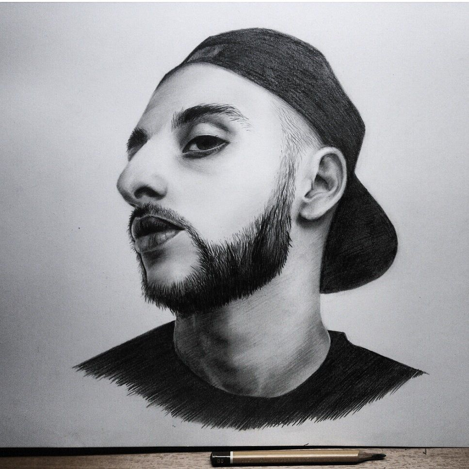 портрет леван blackstarmafia lone карандаш