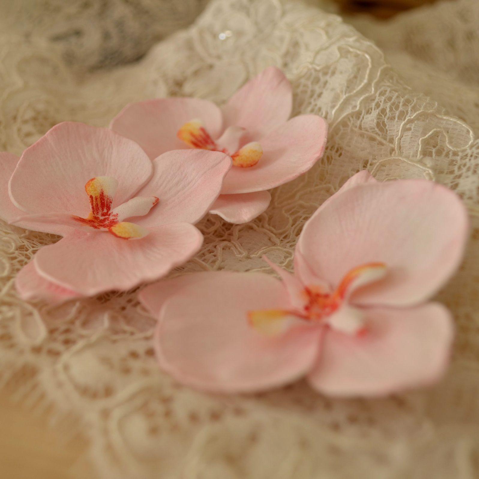 пенза шик орхидея. волосы шебби украшения фоамиран шпилька свадьба