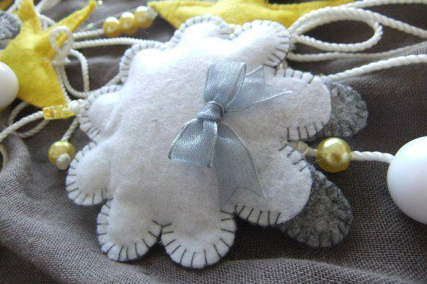 мобиль каруселька фетр новорожденный подарок ручнаяработа