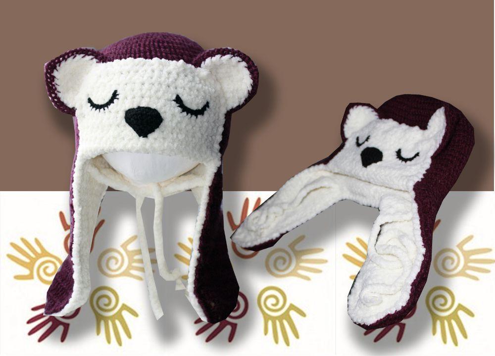 детская продажа связанные детские теплая лиса ушанка удобная крючком шапки работа ручная аксессуары детям шапочка и красивая купить стильная шляпы связанное фиолетовая зимняя