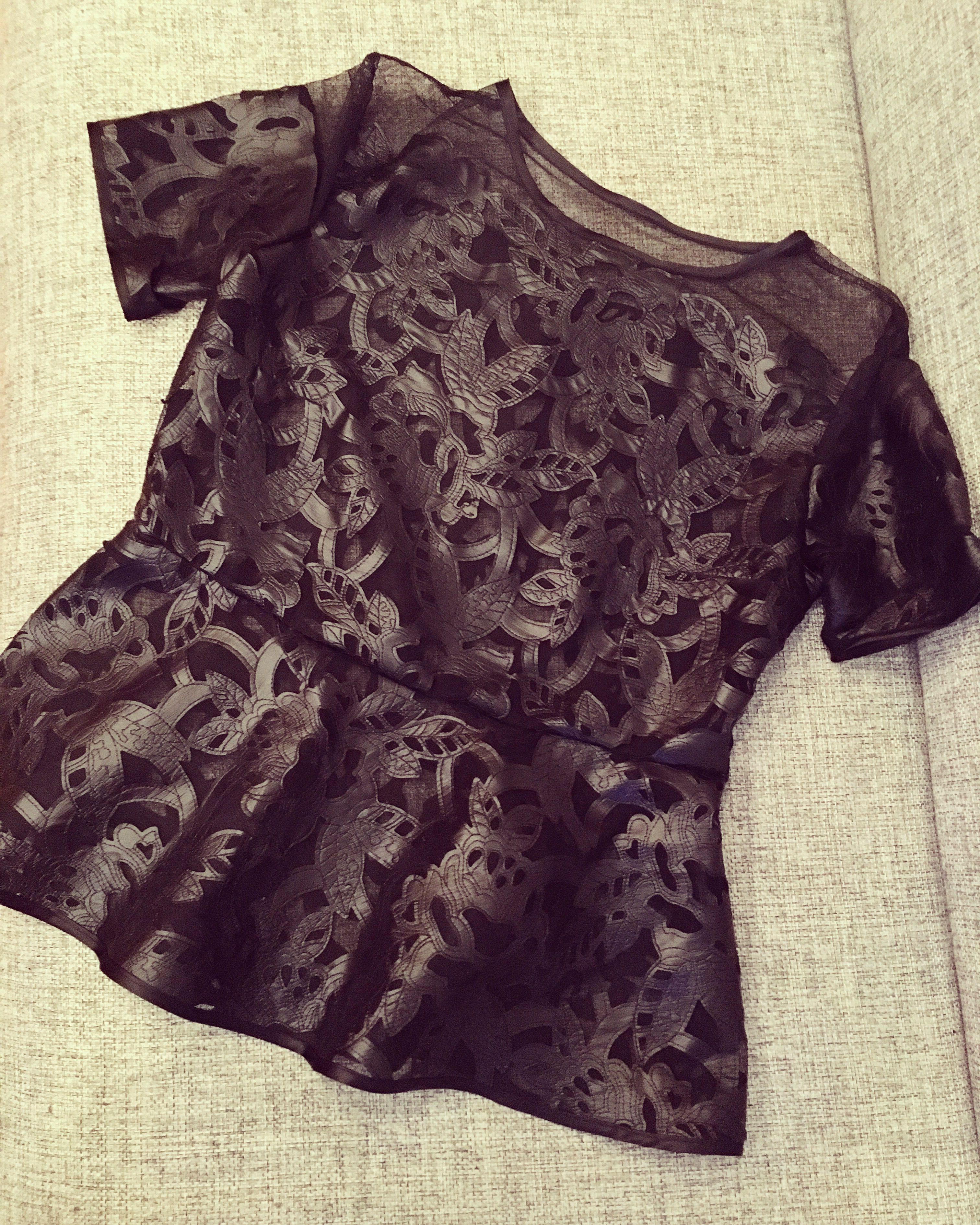 мода кожа кожаная эксклюзив сетке кофта на блузка 2017 нарядная