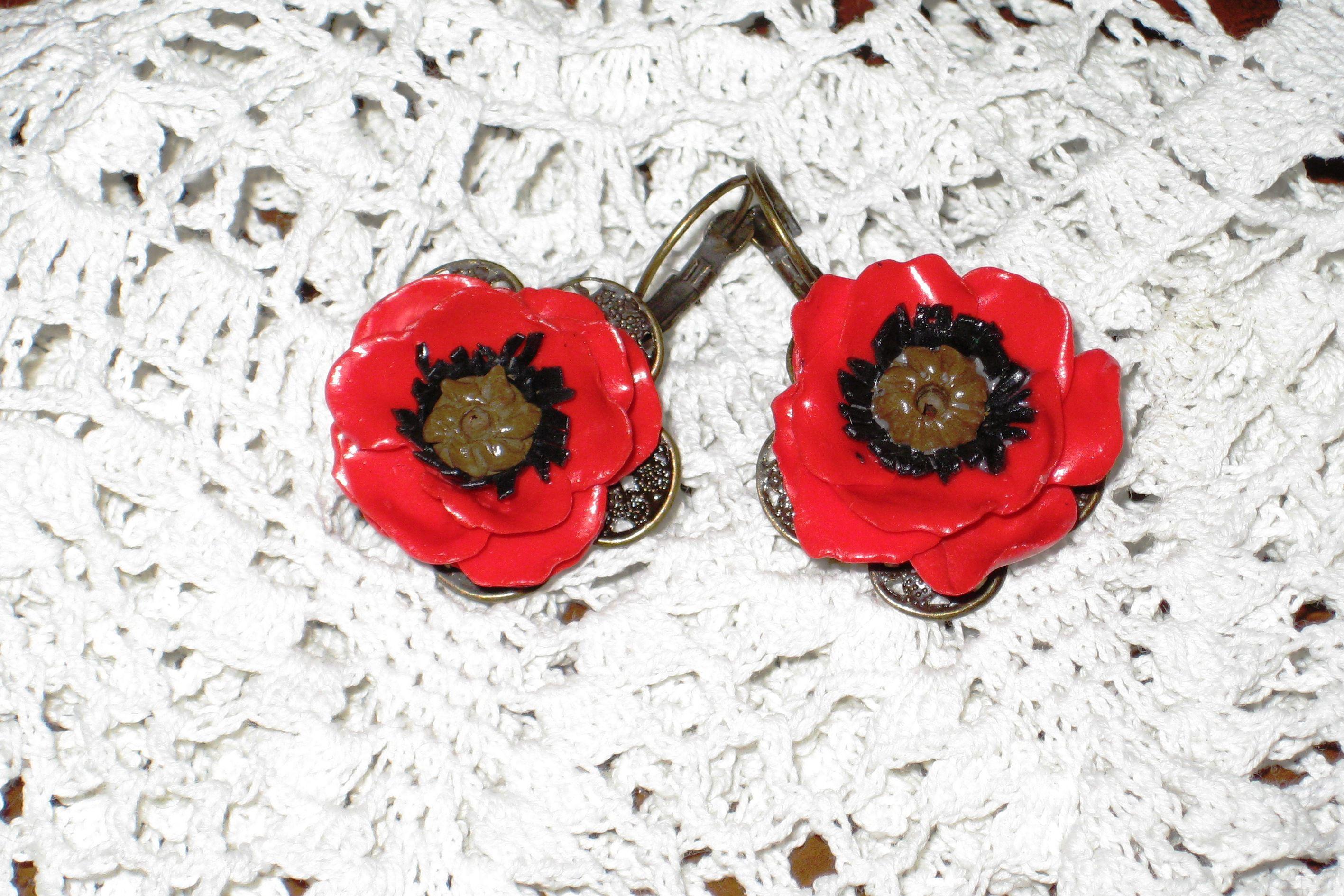 уникальныйподарок серьги handmade бижутерия хендмейд творчество полимернаяглина цветы подарок