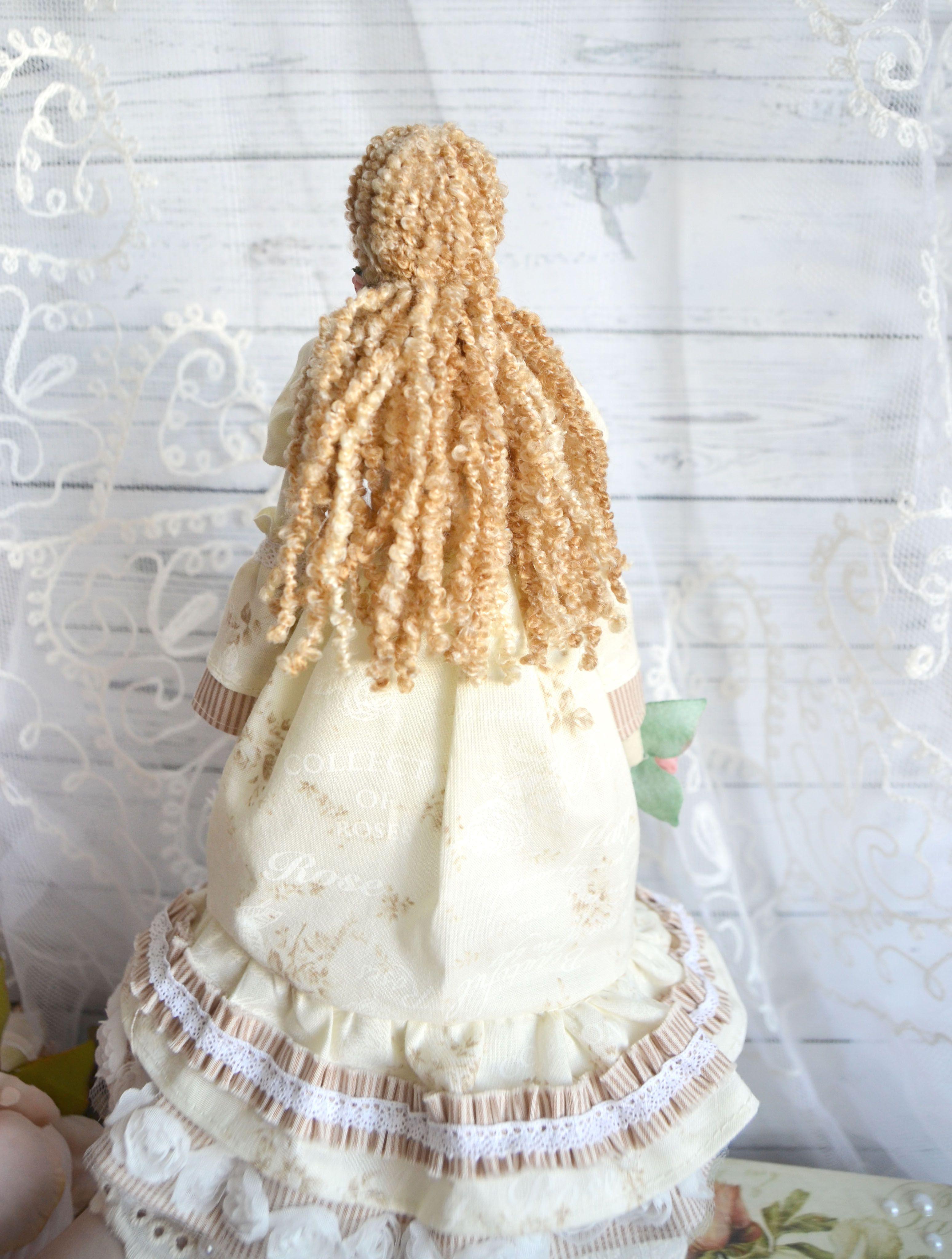 декупаж тильда кукла
