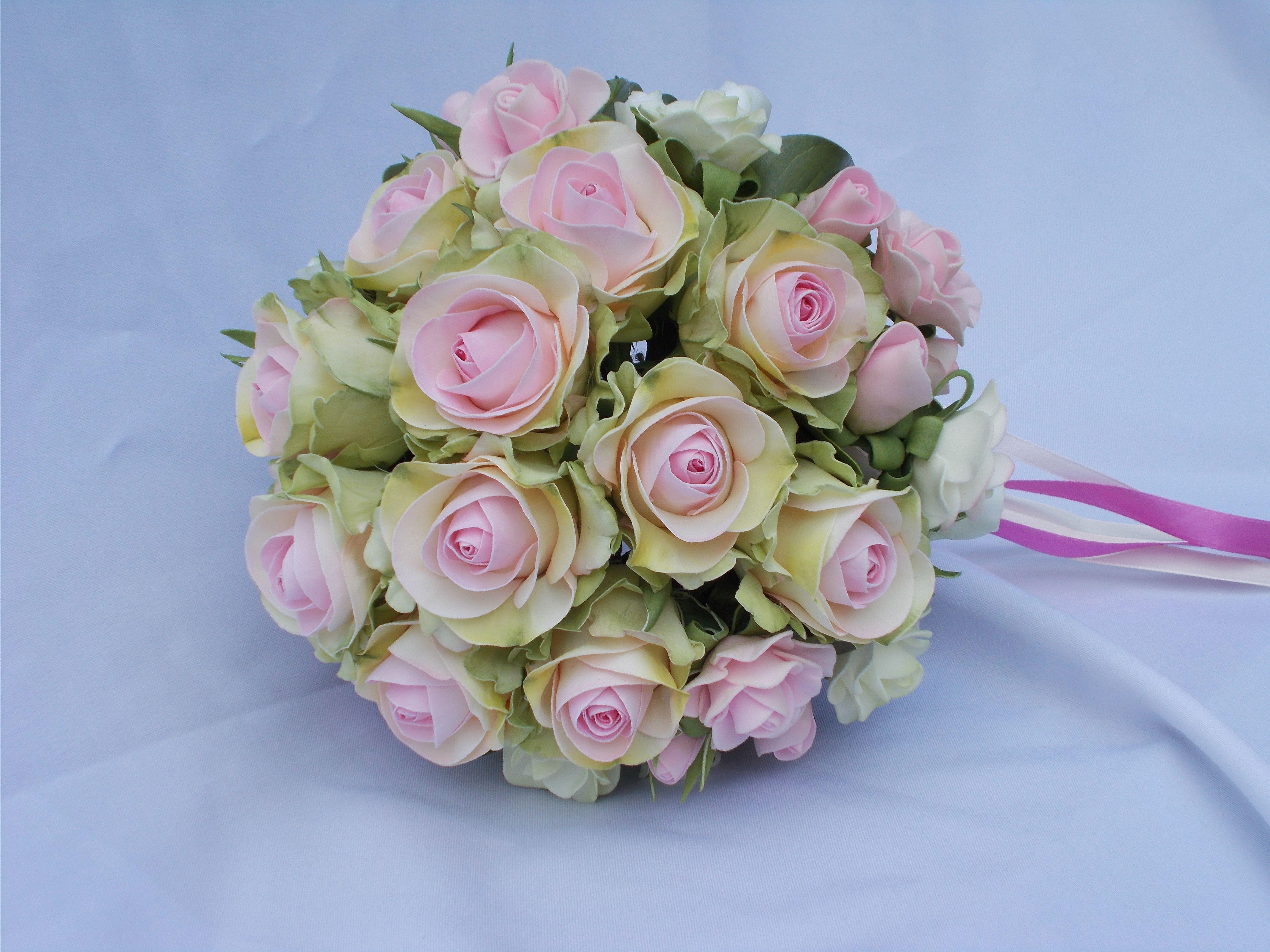 свадьба цветы фоамиран аксессуары фом букет свадебные