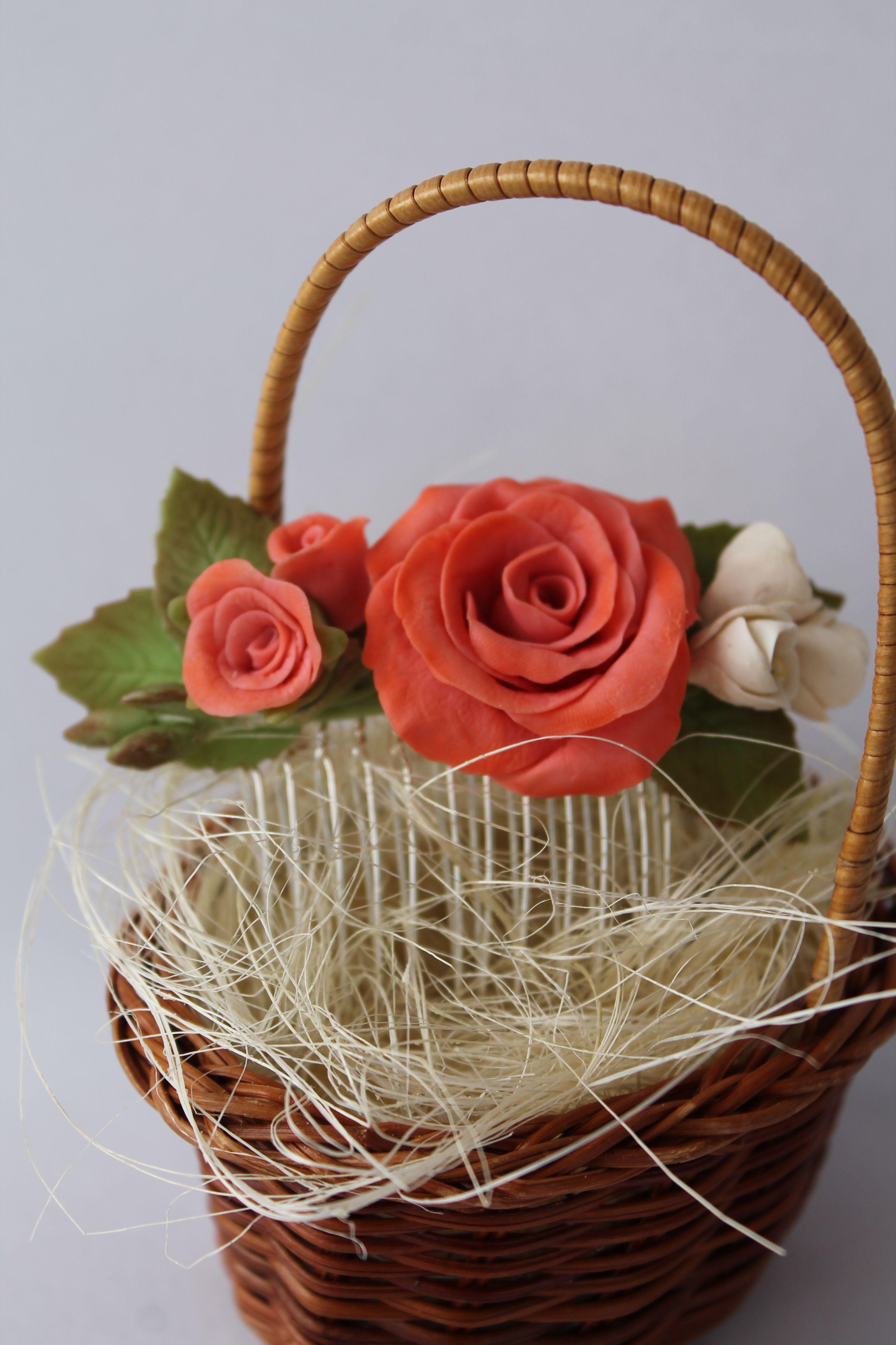 полимерная глина гребешок гребень розы