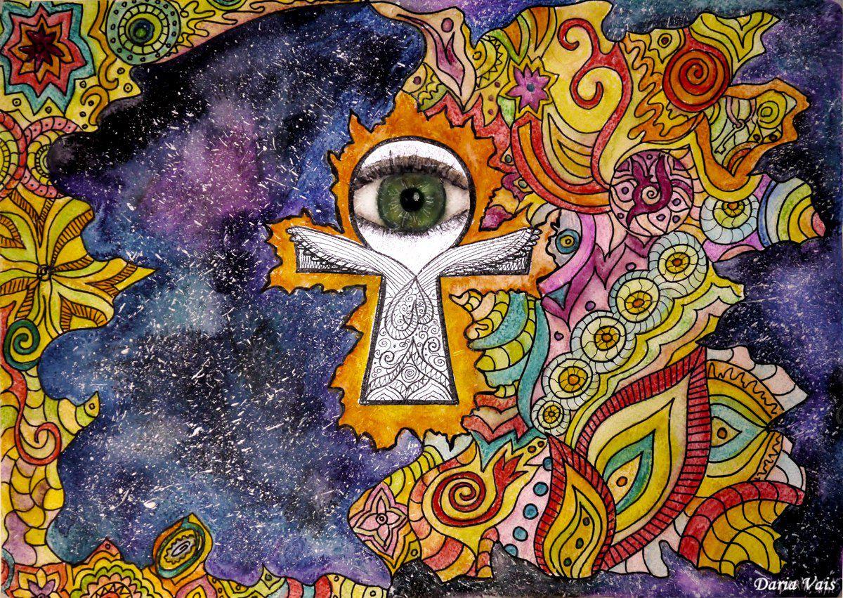 вселенная подарок картина мандала интерьер око энергия космос этно дом