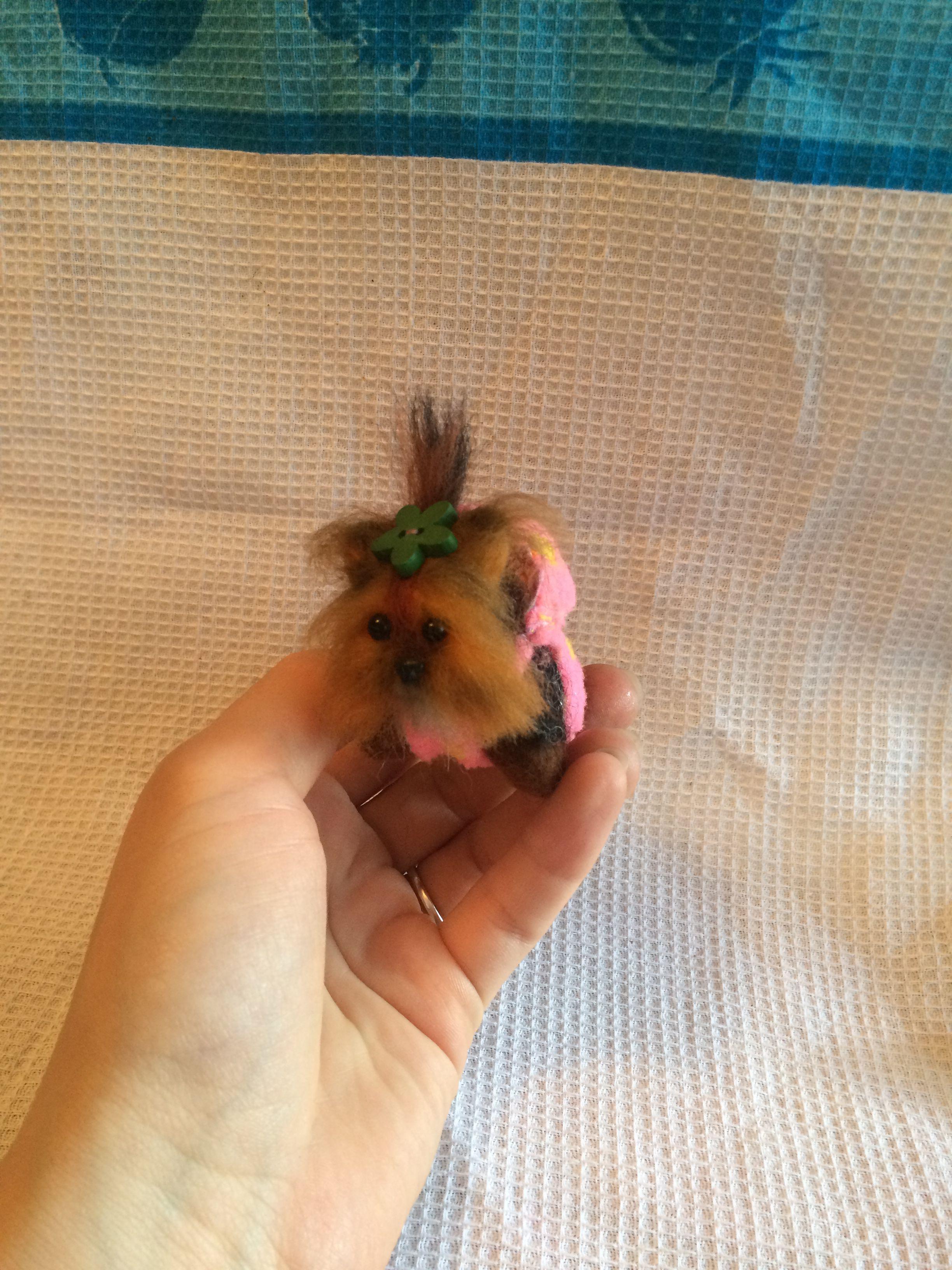 маленькая шерсти игрушка брелок йорк собачка