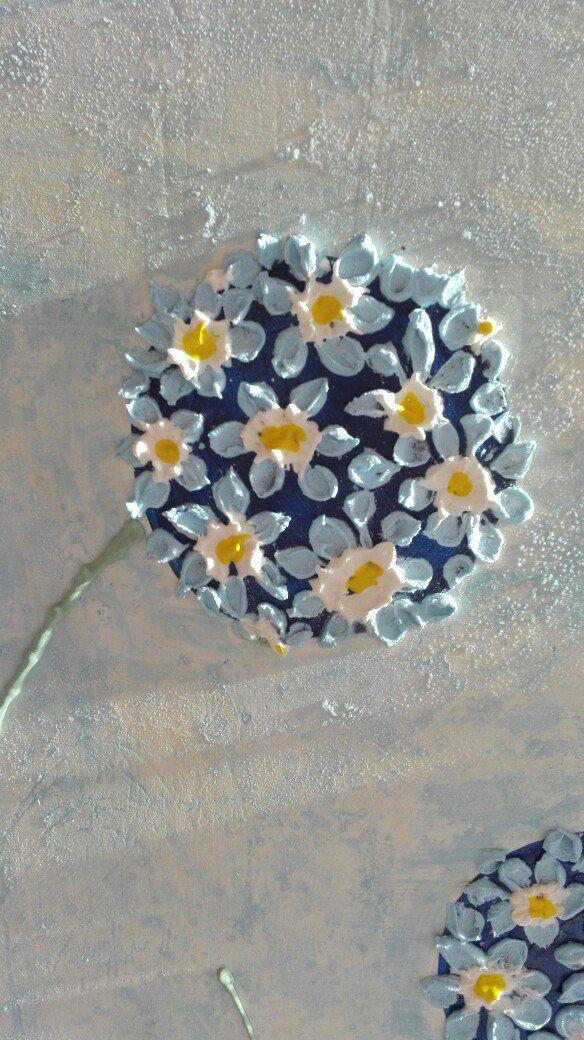 авторская подарок панно стену детскую на картина ручная интерьерное работа цветы объемная в