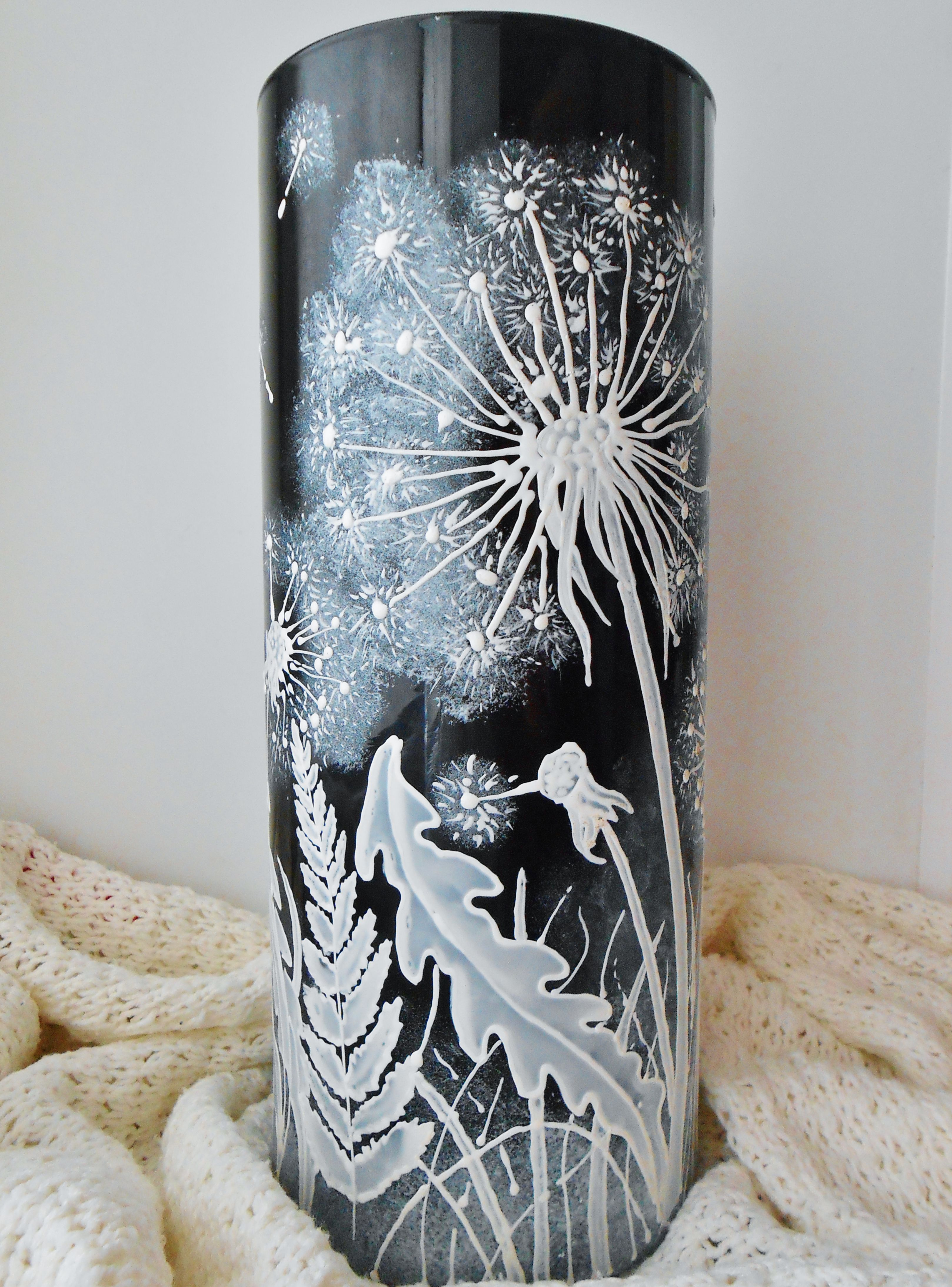 одуванчик ваза интерьер роспись витраж
