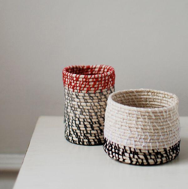 верёвка интерьер дом плетение дизайн корзина
