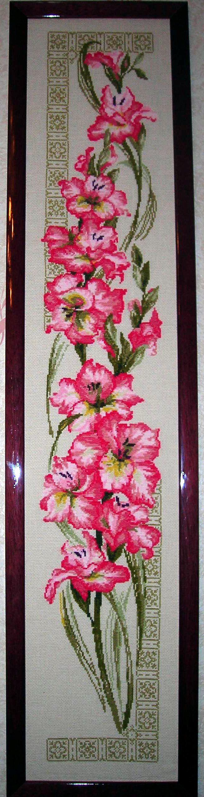 вышивка цветы картина
