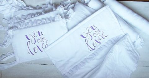 в для работа новорожденногокомплект кроваткубортикиручная росписьручная