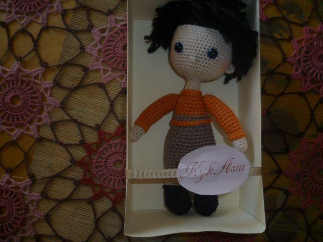 авторская игрушка кукла человечки бежевый вязаная ручной работы