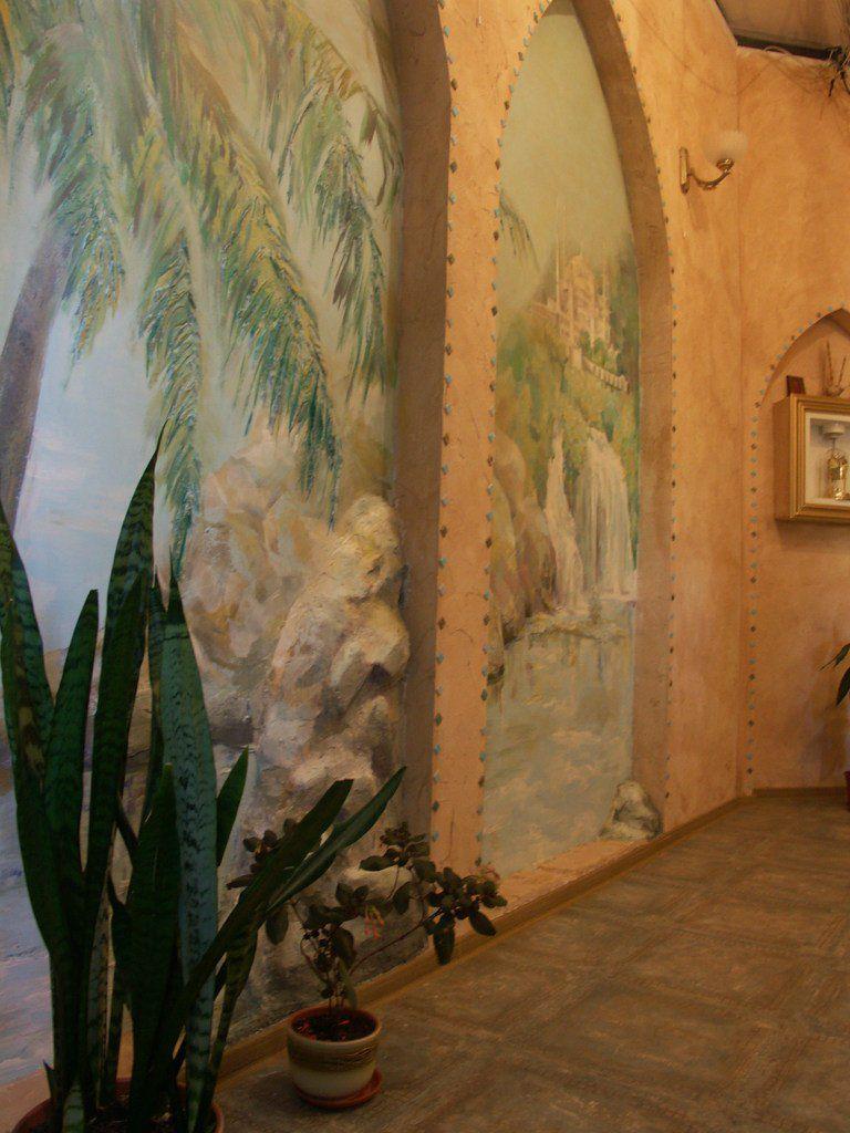 стена панно акрил роспись объемная