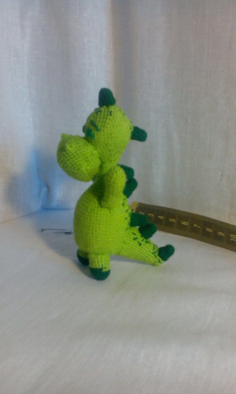 игрушка дракон сувенир крючком