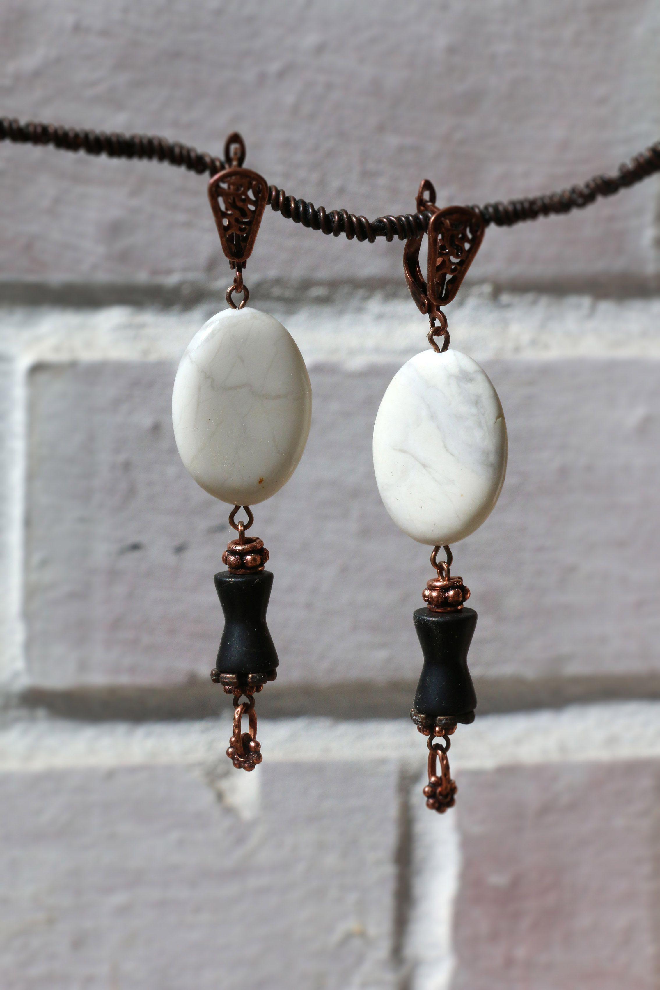 колье натуральных ретро шашки серьги черно крупные белый камней натуральные