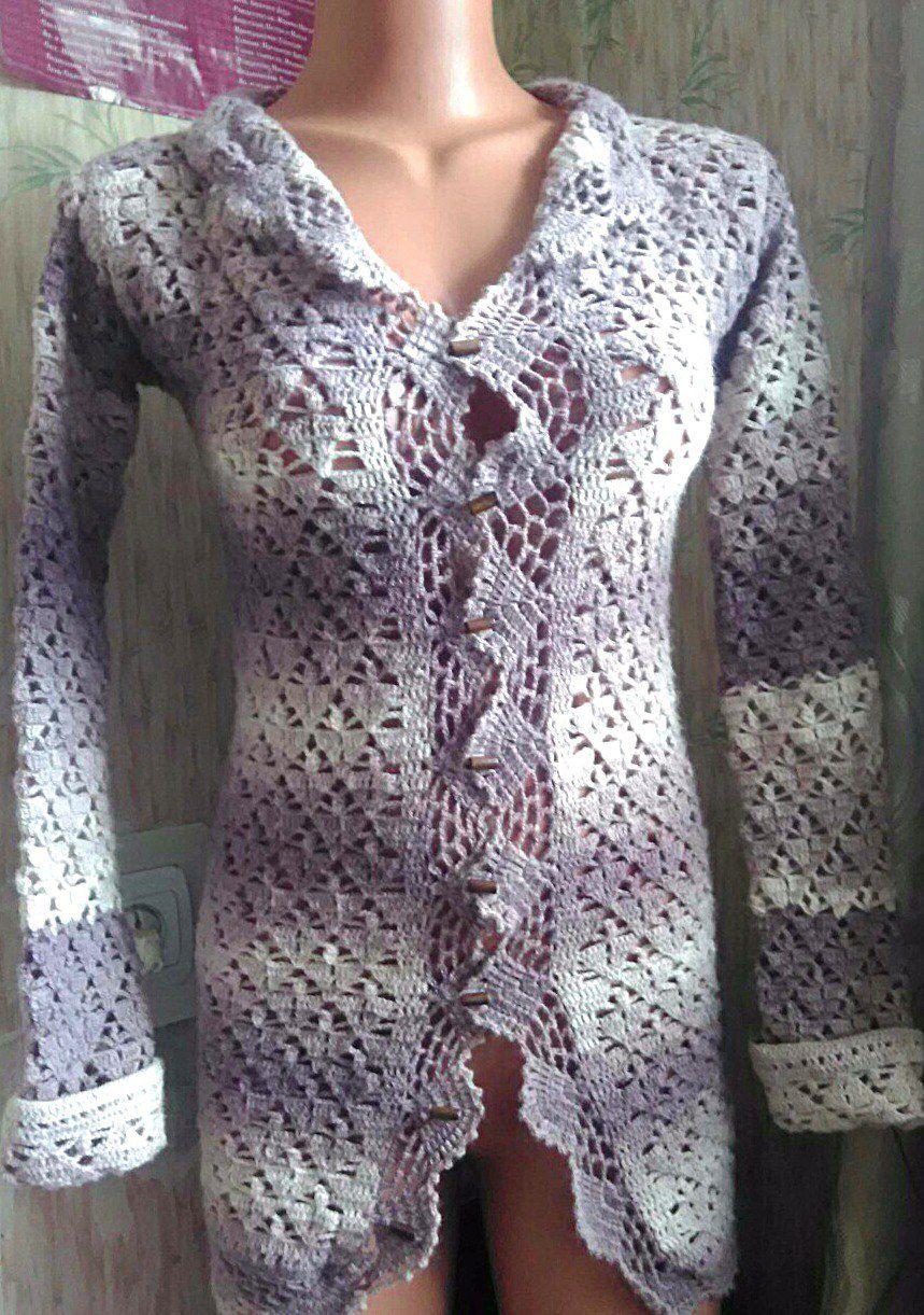 ручнаяработа вязание handmade кофточка винтаж ажур