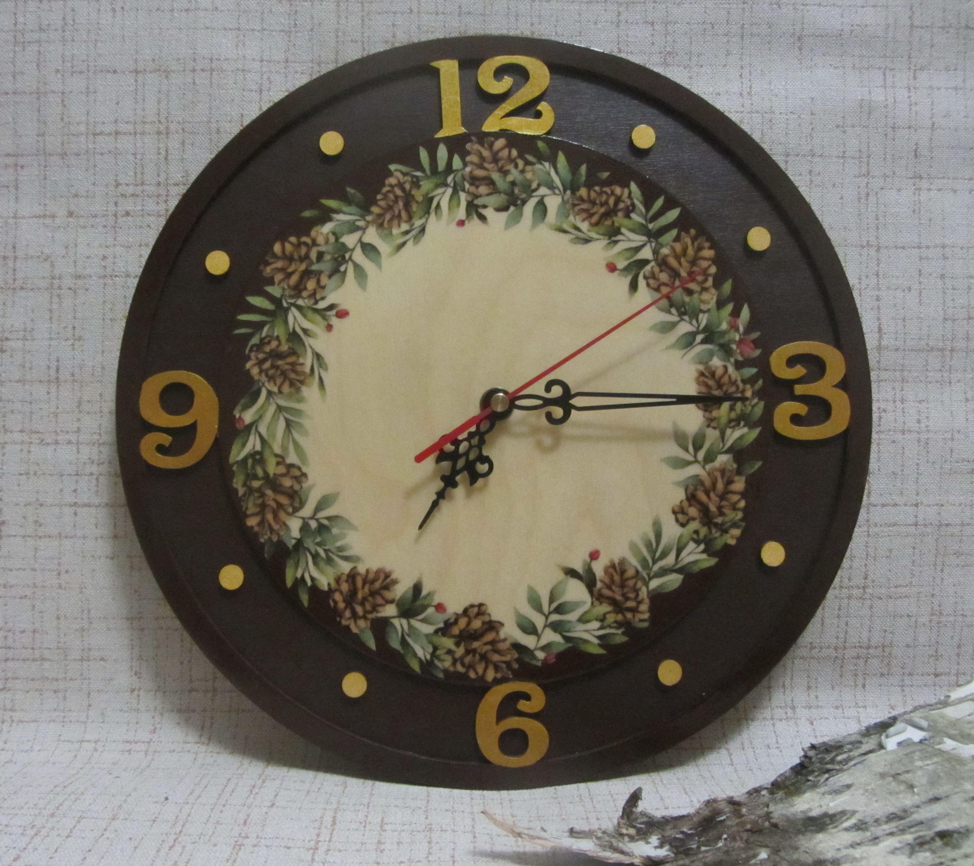 подарок ручной настенные часы работы