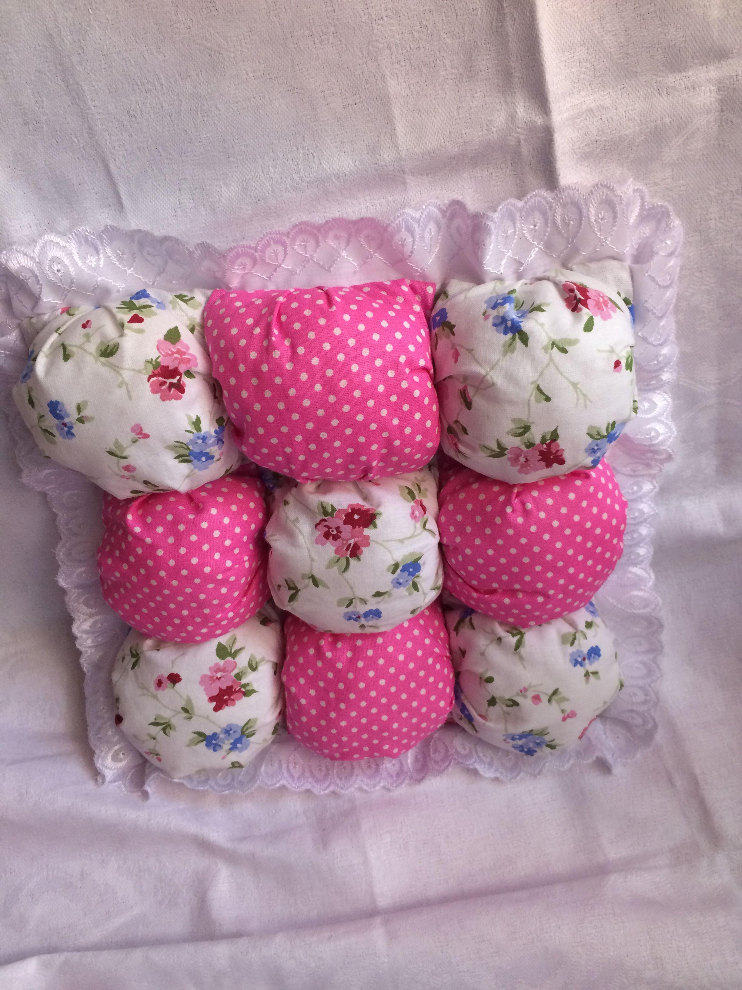 подушка текстиль бомбончик