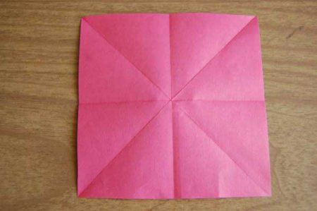 Оригами из бумаги цветы 7