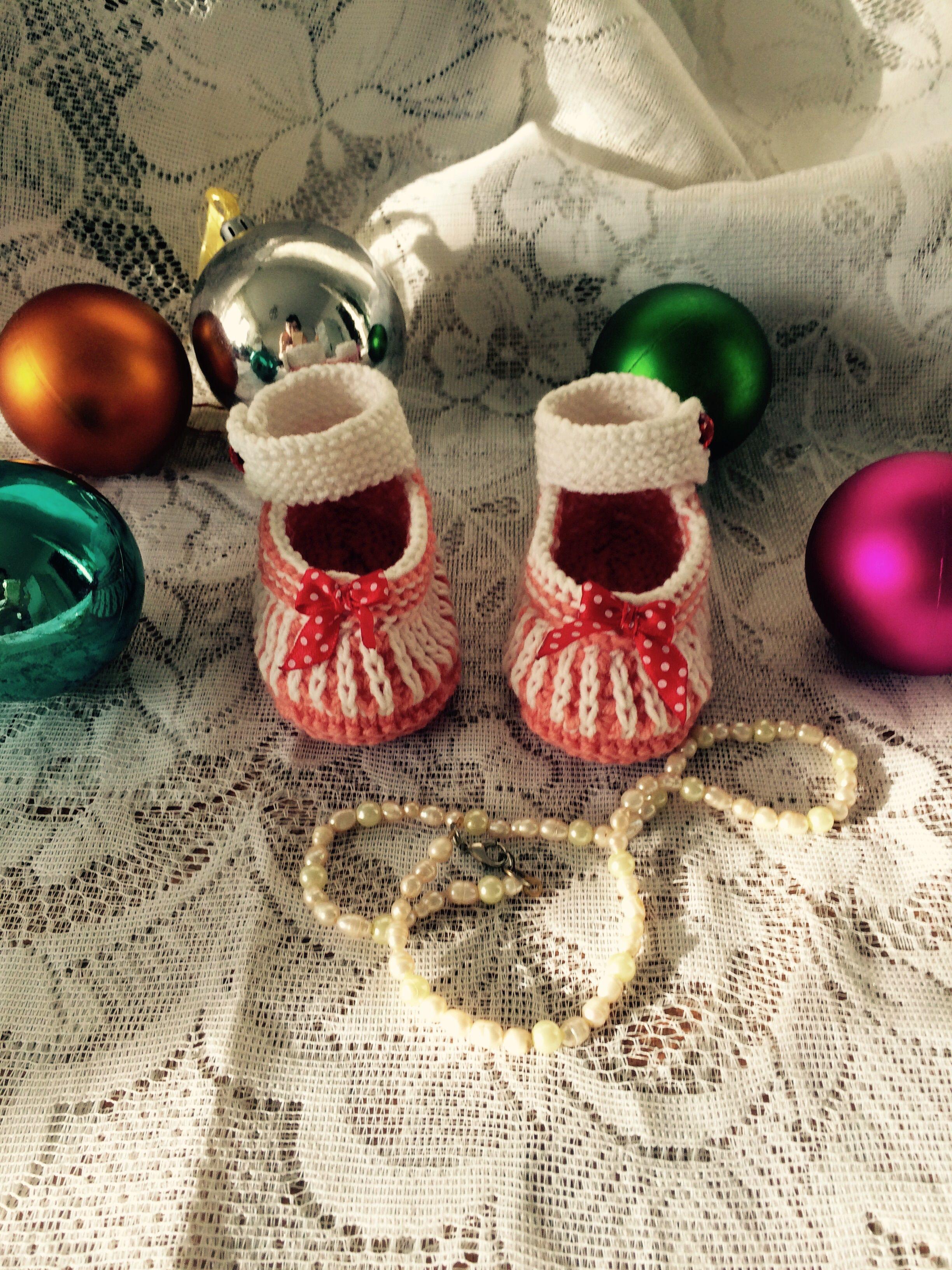 хендмеейд пинетки детям для вязание новорожденных