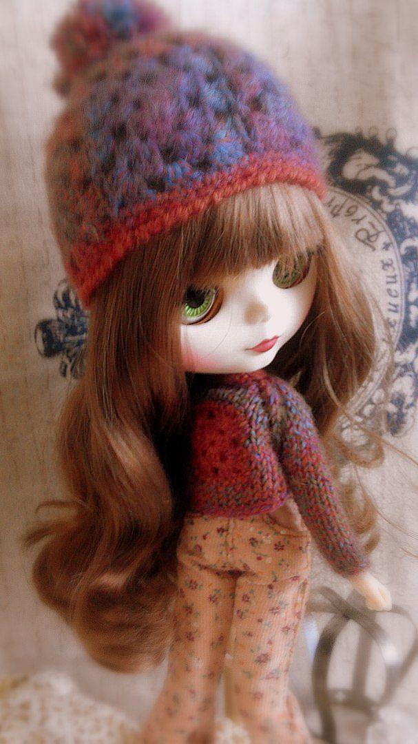 кукольная помпоном для blythe блайз одежда шапочка кукол