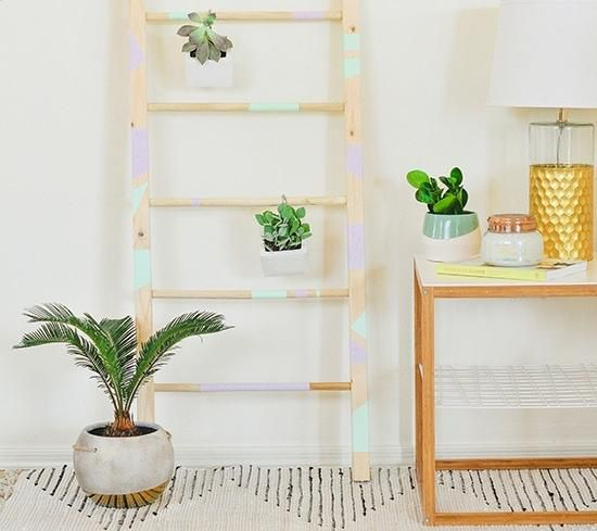 домашние дерева лестница мастеркласс интерьер из растения цветы