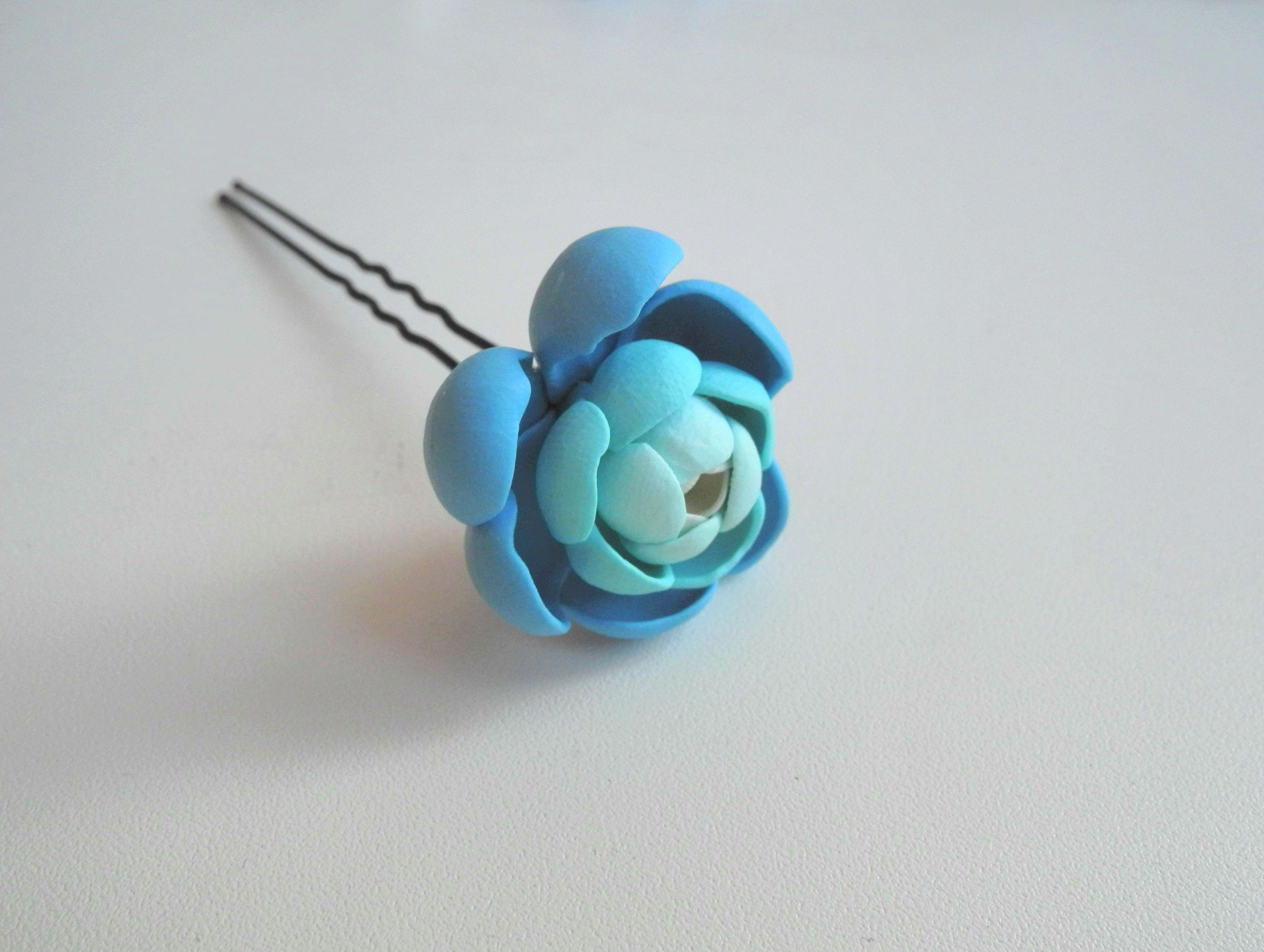невидимка белоусоваанна подаркиручнойработы заколк proglina украшениядлясвадьбы украшение handmade своимируками полимернаяглина цветы