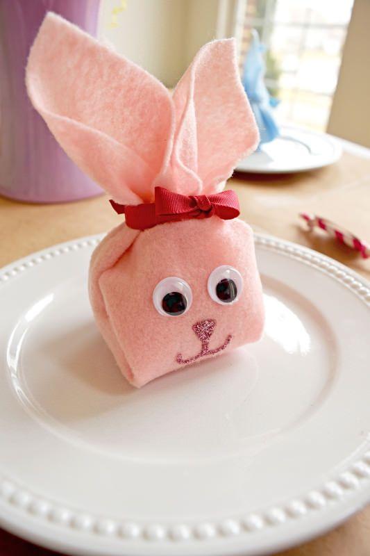 кролик кроликкролик извойлока из салфетки пасха подарок праздники дети