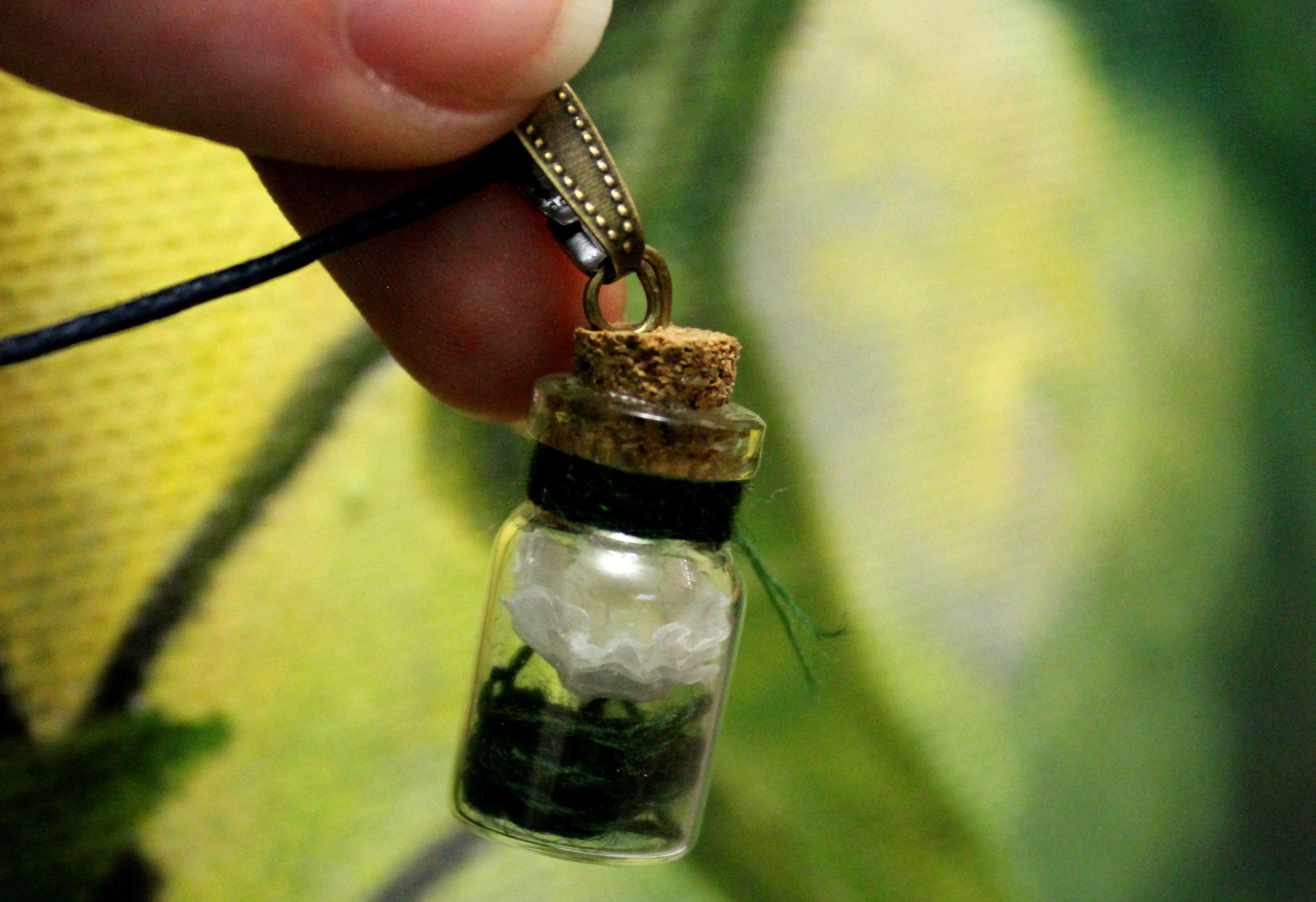 флора баночка украшение ручнаяработа кулон нежность цветок подарок