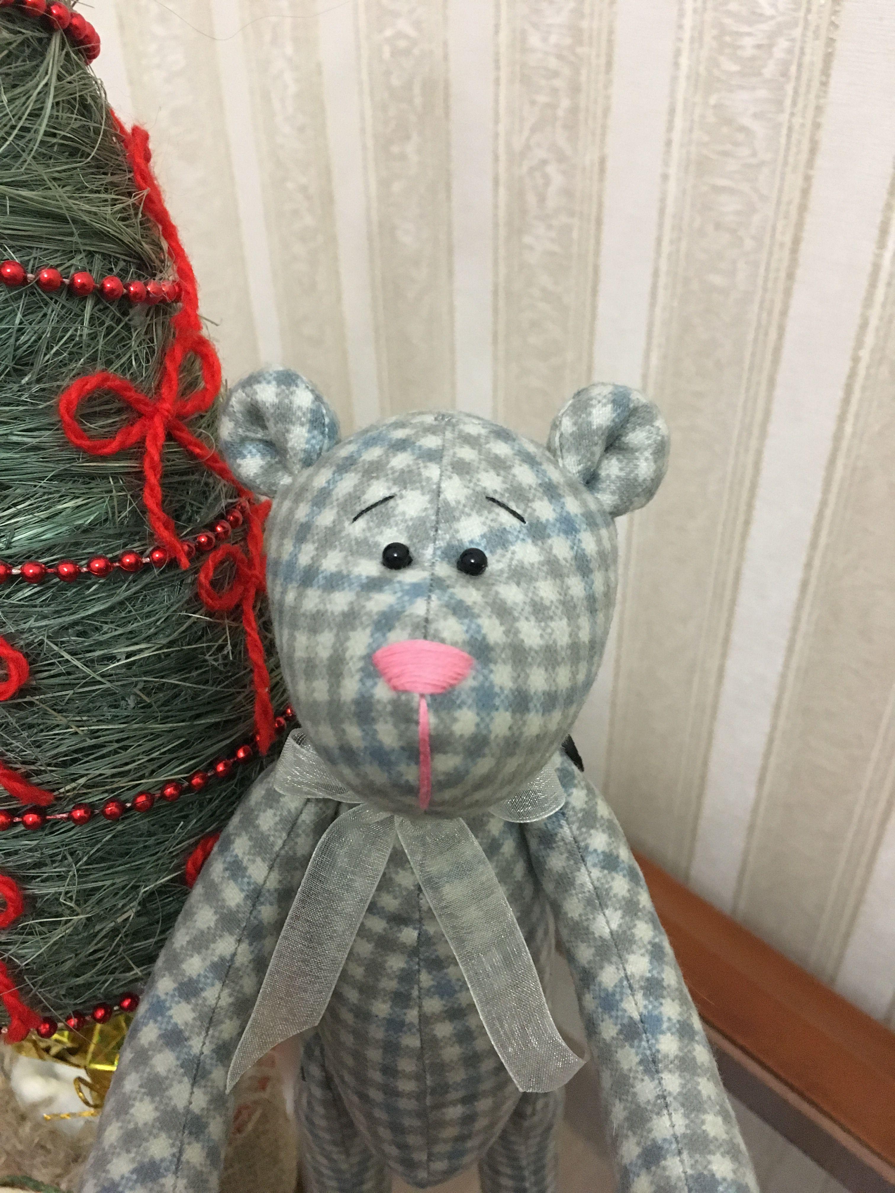 мишка ручная игрушка работа тильда