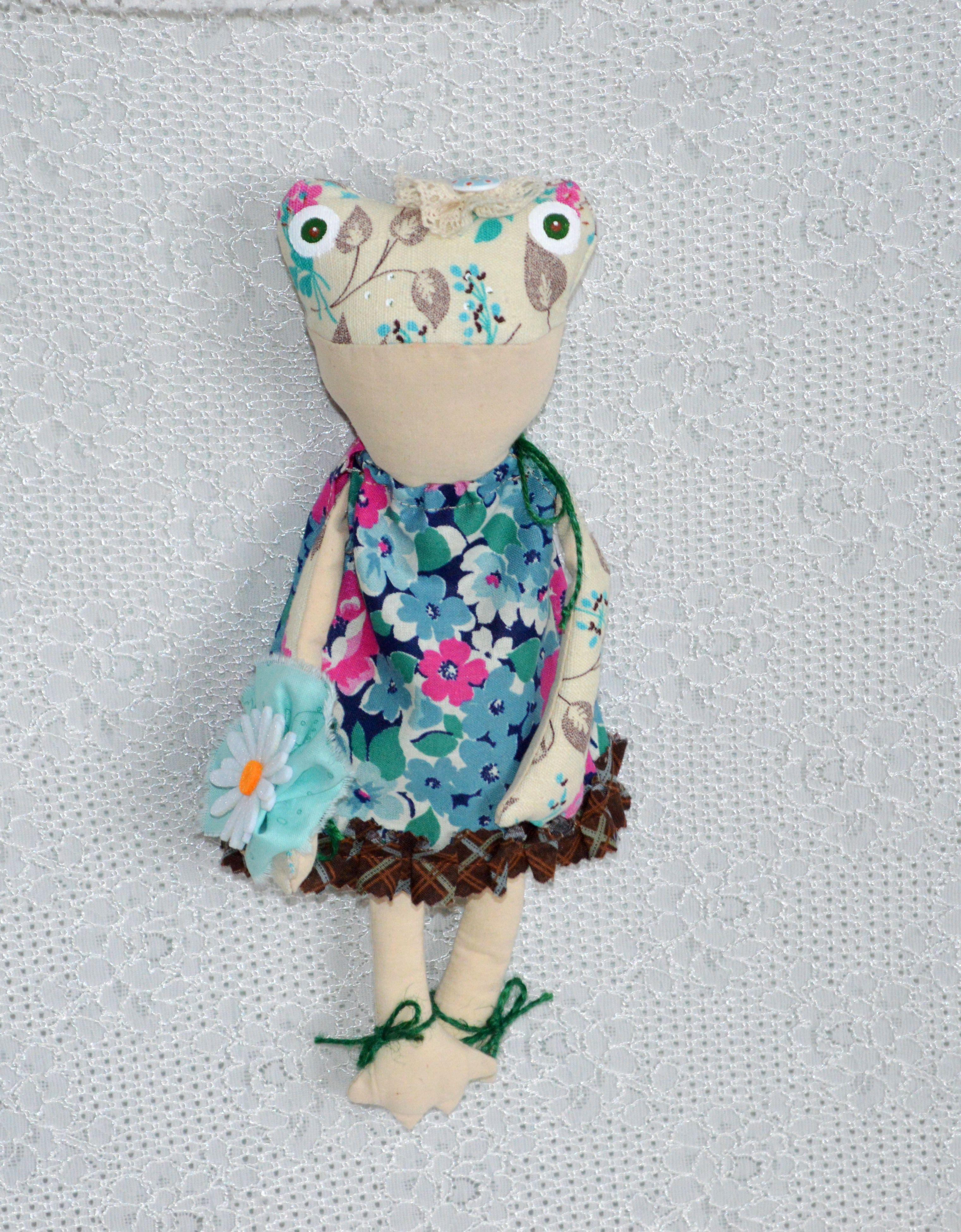 подарок кукла настроение весеннее коллекция лягушка