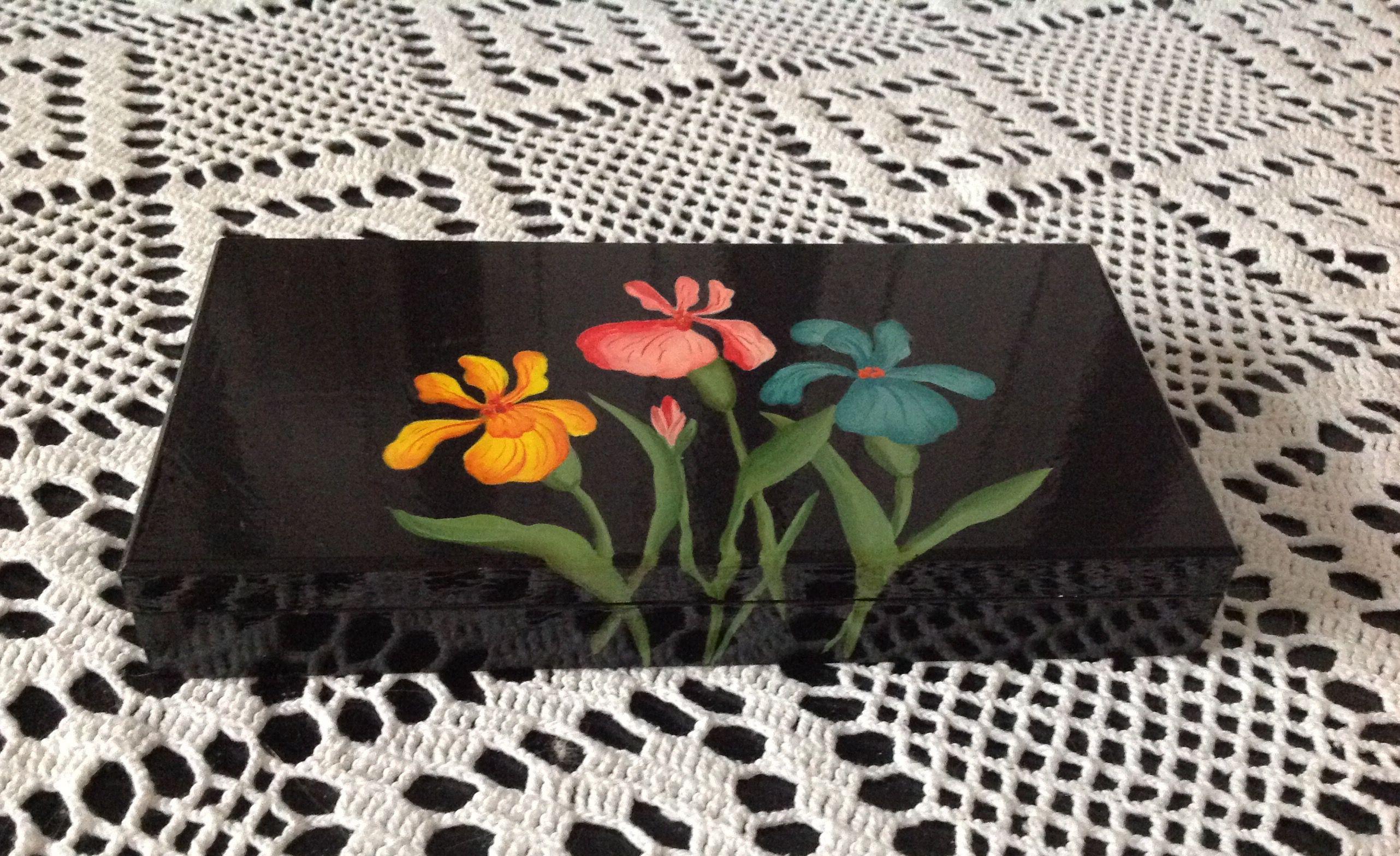 деревянное деньги тагильская чёрная подарки сувенир ручнаяработа роспись купюрница русский цветы изделие