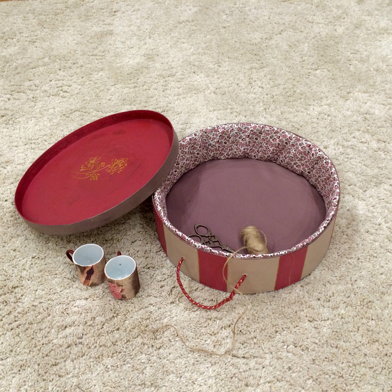 лак круглая коробка текстиль декупаж рисовая акриловые акриловый краски бумага короб