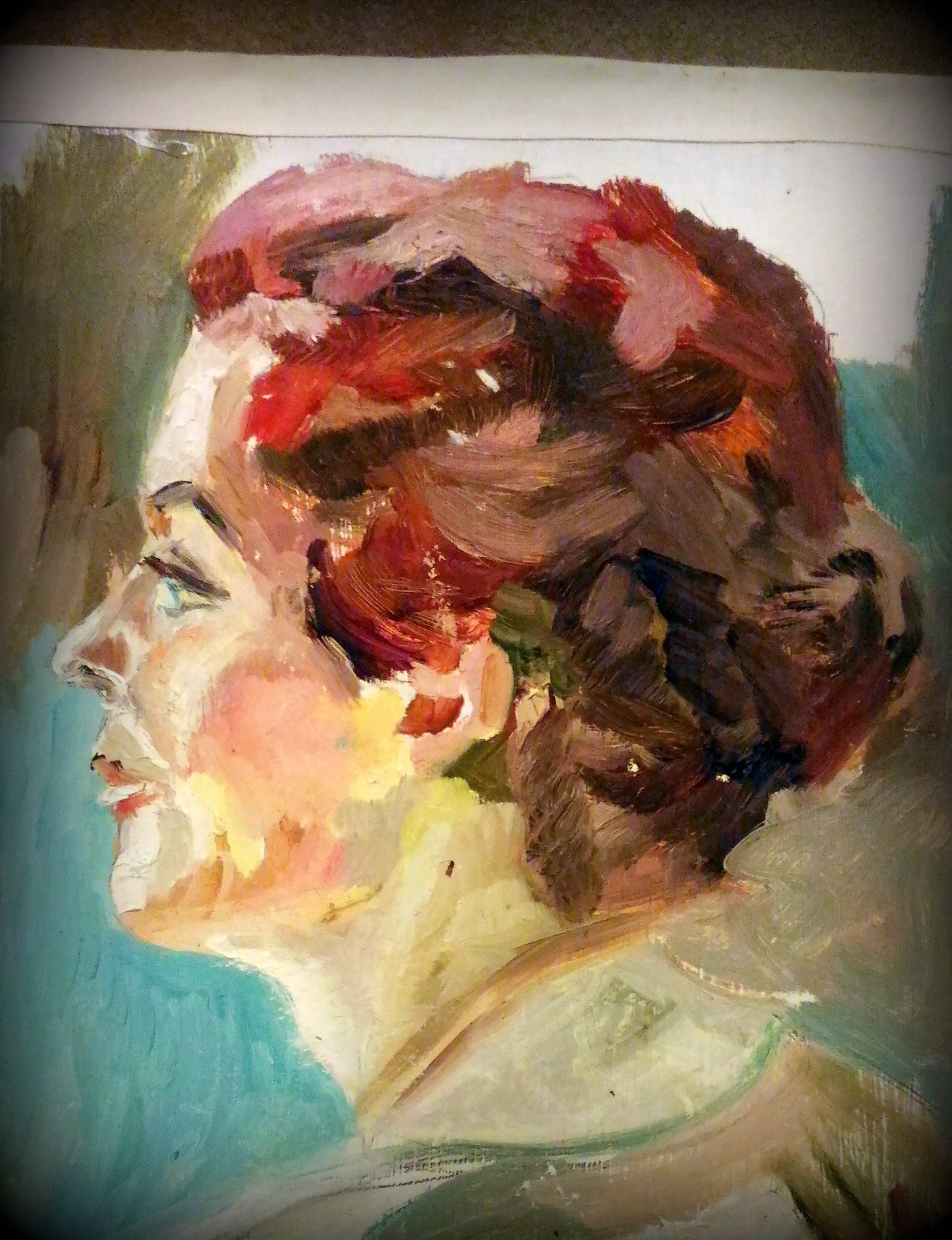 портрет женский живопись импрессионизм портет своременная масломкопиямама картина