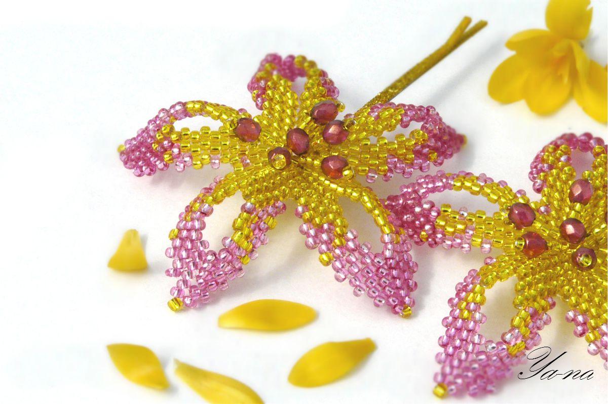 ручнаяработа подарокдевочке подарокдевушке заколка украшение новосибирск хэндмейд цветывприческу аксессуар длядевочки цветыизбисера бисерныецветы бижутерия