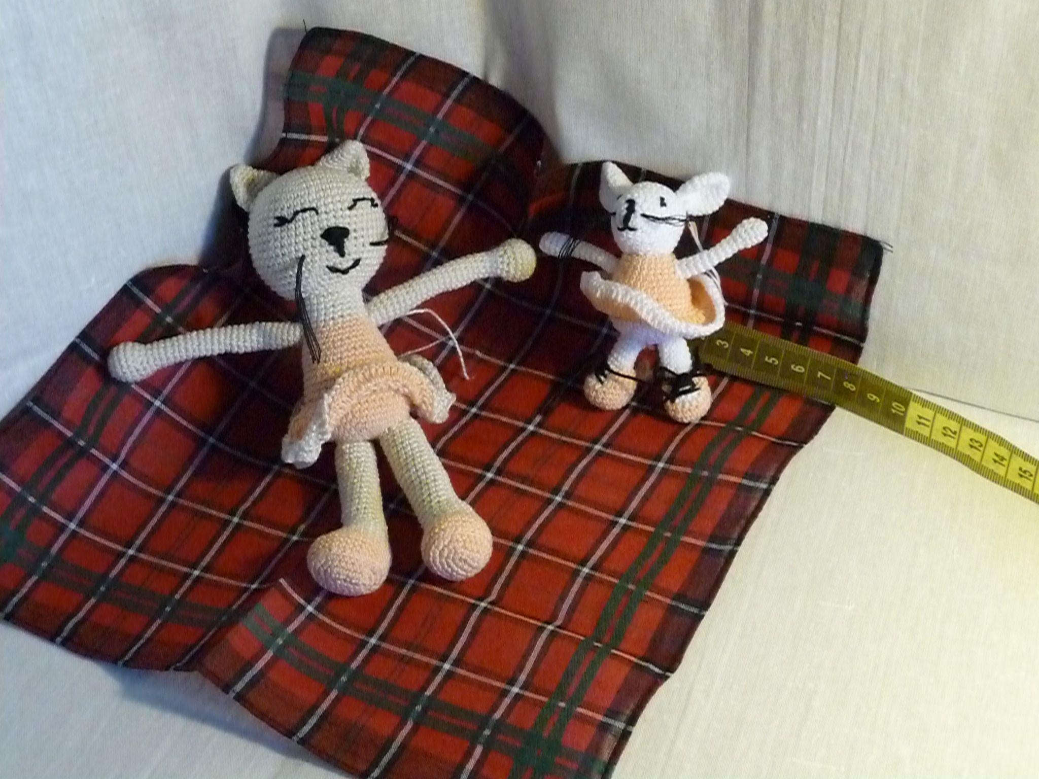 игрушка мышка балерина детям кошка крючком