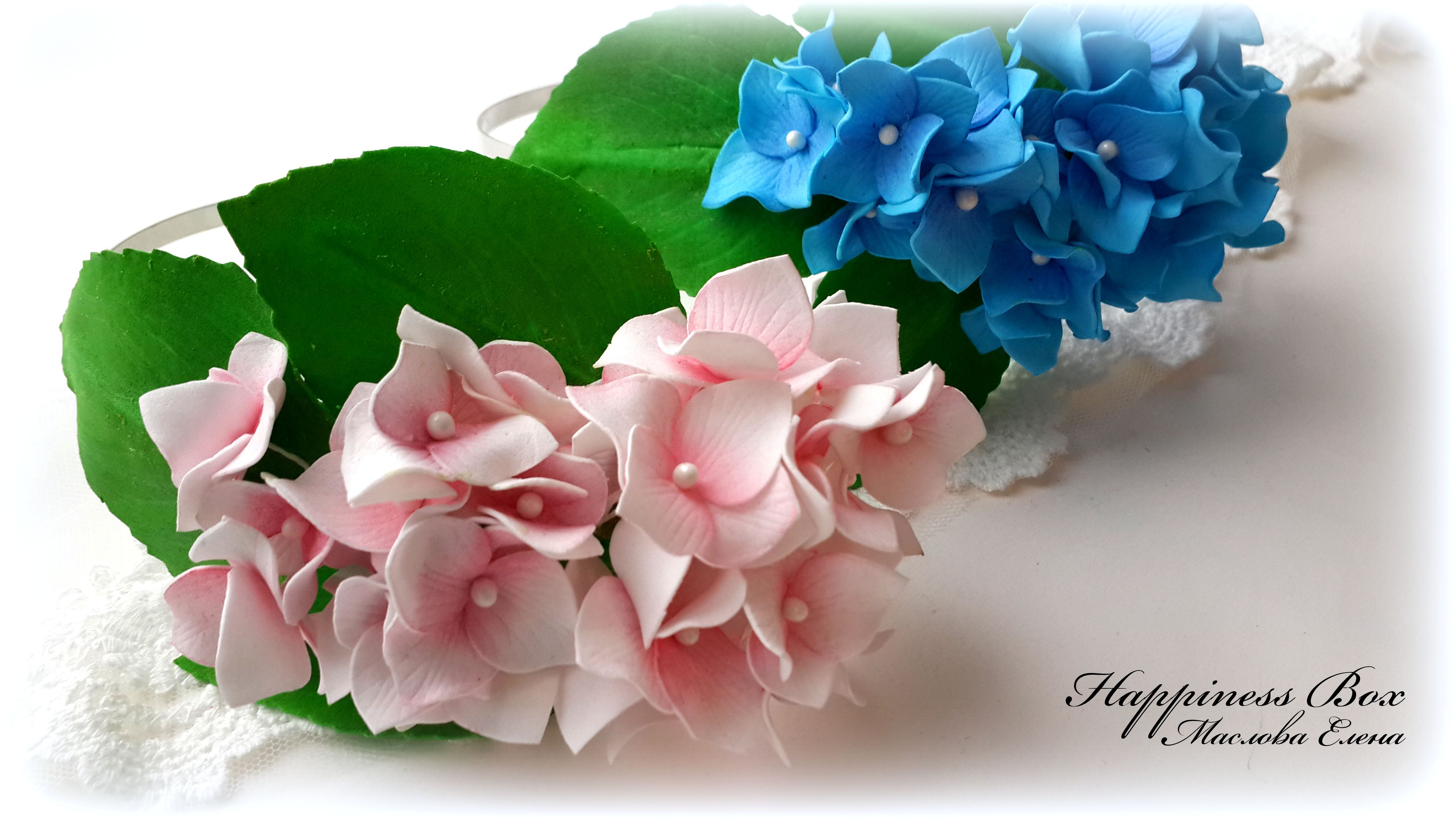 выпускной цветов ободок фом happinessbox гортензия фоамиран ревелюр вечеринка казань свадьба украшениеободок венокиз цветочныеукрашения цветыизфоамирана