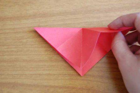 Оригами из бумаги цветы 8