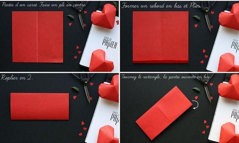 Сердечки из бумаги 8