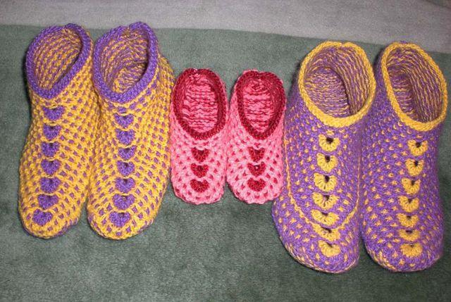 Вязание тапочек спицами 2
