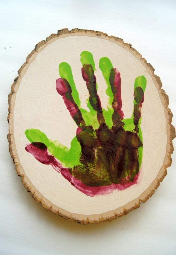 семейное отпечатки мастеркласс рукамми дерево панно детские своими подарок